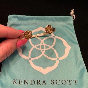 KENDRA SCOTT Gold Druzy Cuff Bracelet